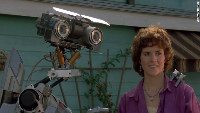 Entertainment nominee Johnny 5, the star of &quot;Short Circuit,&quot; appears in a scene from the 1986 movie with Ally Sheedy.