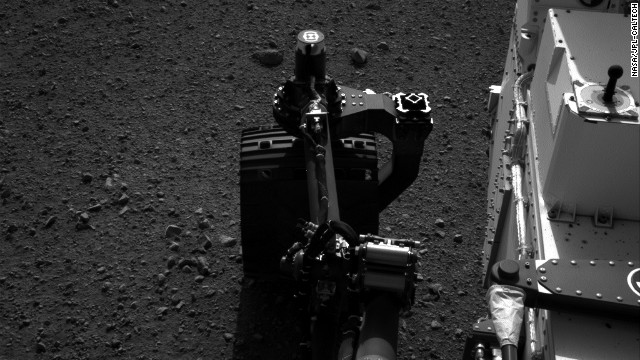 NASA tested the steering on its Mars rover Curiosity on August 21. Drivers wiggled the wheels in place at the landing site on Mars.