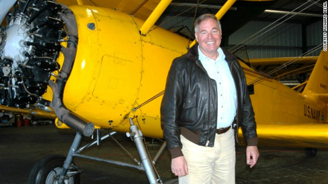 Bob Besal in 2008 in front of his N3N-3 Navy trainer in Carson City, Nevada.