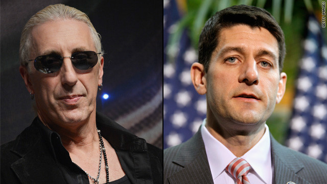 Dee Snider &#039;not going to take&#039; Paul Ryan playing his song