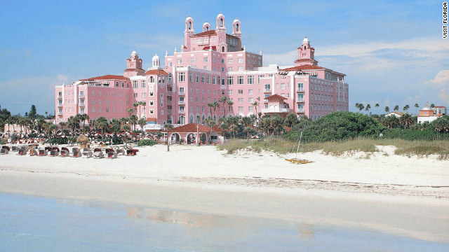 Thomas Rowe's dream to build a pink castle on the sugar-fine sand of St. Petersburg Beach is now the Loews Don CeSar Hotel.
