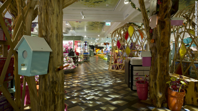 "The Enchanted Forest in Harrods' new ""Toy Kingdom"" features wigwams full of collections from Sylvanian Families and Flutter Fairies alongside arts and crafts."