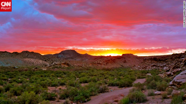 "One of the summer highlights for iReporter Mark Rogers and his partner was an unforgettable trip to Arches National Park near Moeb, Utah. ""We are lucky to have such an incredible park in this country,"" he said. ""We finished our hike right as the sun set. We were both very lucky to see so much incredible scenery.""<br/><br/><a href='http://ireport.cnn.com/docs/DOC-830604' target='_blank'>See more spellbinding photos from this trip on Mark Roger's iReport</a>."