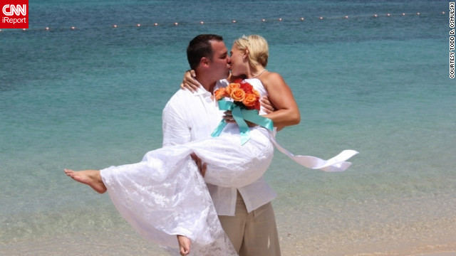 "After 10 years of marriage, Todd and Jennifer Osmulski shared an amazing summer highlight together when they chose to renew their vows on the beaches of St. Lucia. ""We have been through so much. So many ups and downs, but here we are. Together still.""<br/><br/><a href='http://ireport.cnn.com/docs/DOC-829771' target='_blank'>Find out more about their summer filled with love on Todd D. Osmulski's iReport</a>."