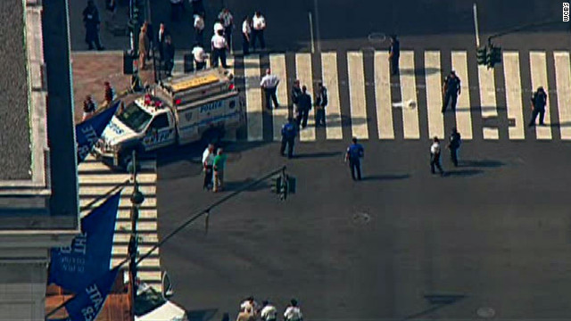 At least 10 people were shot Friday in front of the Empire State Building in New York Friday morning, the New York Office of Emergency Management said.