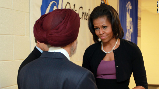 First lady meets with victims, families of Sikh temple shooting