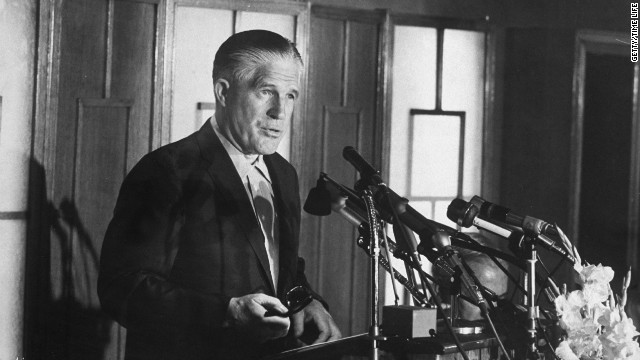 "George Romney (Mitt's father) opposed the Vietnam War during his presidential run, although he had previously supported it. In explaining his change of heart, he said that in 1965, he visited Southeast Asia and met with U.S. generals who ""brainwashed"" him into supporting the war. His candidacy could not recover.<br/><br/>"