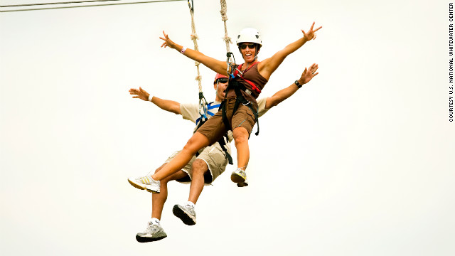 The center has several ziplines, including Mega Zip and Canyon Zip.