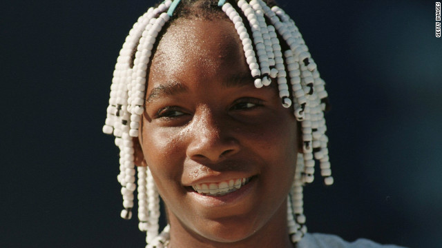 Williams has had a distinctive look since she first burst onto the scene in the mid-1990s. As a teenager she was well known for her braided hair.