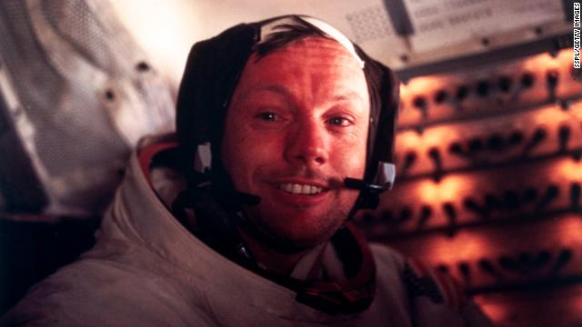 Neil Armstrong famously commemorated his first steps on the moon by saying, &quot;One small step for man, one giant leap for mankind,&quot; on July 20, 1969. Edwin &quot;Buzz&quot; Aldrin, a fellow astronaut on Apollo 11, followed and became the second man, and Michael Collins, the command pilot, remained in lunar orbit while they stepped off.