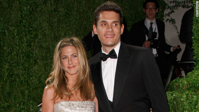 "Mayer dated Jennifer Aniston on and off in 2008 and 2009. ""I've never really gotten over it,"" he told <a href='http://www.rollingstone.com/music/news/the-dirty-mind-and-lonely-heart-of-john-mayer-20120606' target='_blank'>Rolling Stone</a> in June. The breakup ""was one of the worst times of my life."""