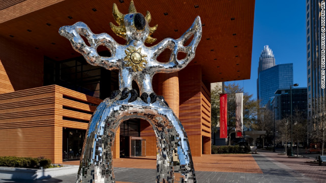 Countless Charlotte visitors have had their photo taken with the Firebird outside the <a href='http://www.bechtler.org/' target='_blank'>Bechtler Museum of Modern Art</a>. The outdoor sculpture stands 18 feet tall, and it's covered with thousands of tiles of mirrored glass.