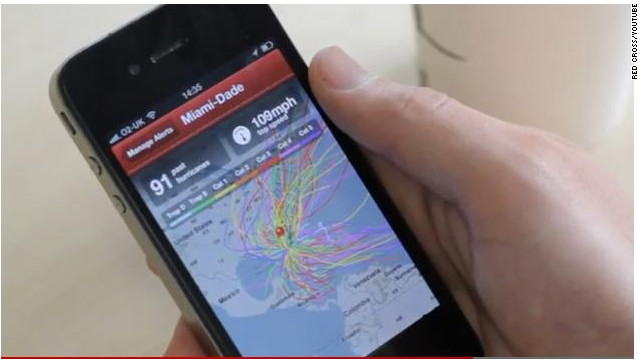 The Red Cross hurricane app lets you track activity and gives tips on storm preparedness.