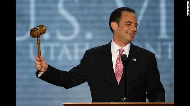 Priebus raises the gavel as he convenes the Republican National Convention.