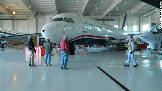 """In 2009, shortly after takeoff from New York's LaGuardia Airport, a bird strike forced Capt. Chesley """"Sully"""" Sullenberger to ditch this US Airways Airbus A320 in the icy Hudson River. The """"Miracle on the Hudson"""" aircraft is now housed at Charlotte's <a href='http://www.carolinasaviation.org/' target='_blank'>Carolinas Aviation Museum</a>."""