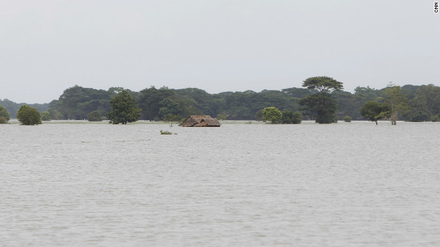In hard-hit areas like Pathein in the Irrawaddy Delta in southern Myanmar, villages and rice fields were still under water on Sunday.