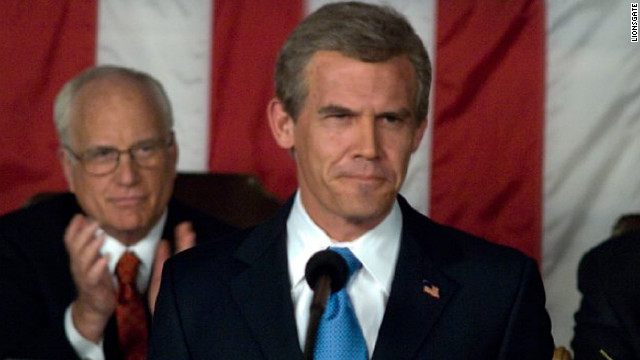 "Josh Brolin and Richard Dreyfuss play George W. Bush and Dick Cheney, respectively, in Oliver Stone's ""W."" The drama chronicles the life of the president from his years at Yale University to his time in the White House. ""A powerful set of people skills and a gift for gab are about the only things Brolin has in common with George W. Bush,"" Donna Freydkin wrote in a 2008 in <a href='http://www.usatoday.com/life/movies/news/2008-10-13-josh-brolin-w_N.htm' target='_blank'>USA Today</a>."