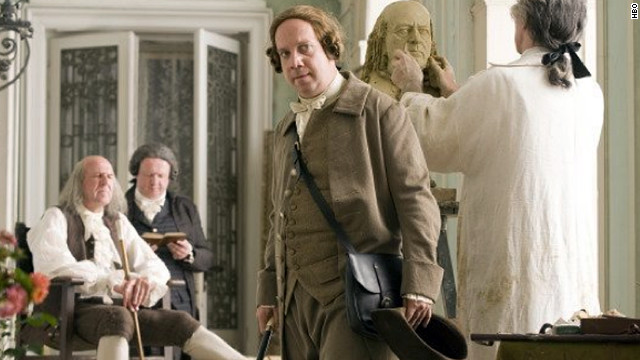 "Paul Giamatti plays the title character in 2008's ""John Adams."" The Emmy- and Golden Globe-winning miniseries also features David Morse as George Washington and Stephen Dillane as Thomas Jefferson."