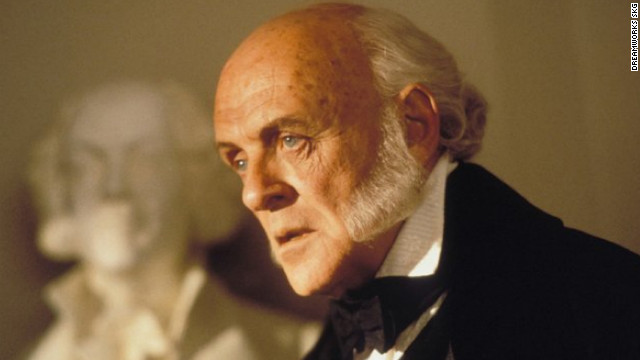 Anthony Hopkins plays John Quincy Adams in 1997's &quot;Amistad,&quot; directed by Steven Spielberg. Hopkins' portrayal earned him an Academy Award nomination for best actor in a supporting role. The actor also played Richard M. Nixon in 1995's &quot;Nixon.&quot;