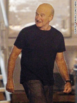 Robin Williams was photographed on the New Orleans set of &quot;The Butler&quot; last year. The movie tells the story of a longtime White House butler. Williams, who sports a bald cap for his role as Dwight Eisenhower, is &lt;a href='http://www.imdb.com/title/tt1327773/' target='_blank'&gt;one of many actors&lt;/a&gt; who'll portray a president in the film. This isn't the 61-year-old's first time playing commander-in-chief. He played Theodore Roosevelt in the &quot;Night at the Museum&quot; franchise.