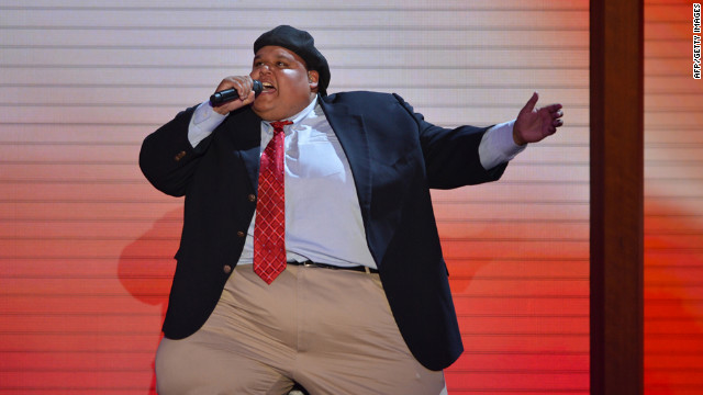 American pop opera singer Neal E. Boyd performs at the Tampa Bay Times Forum.