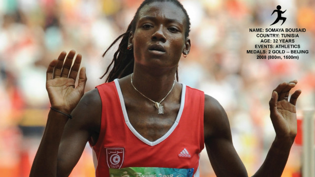 Tunisia's Somaya Bousaid won two gold medals in Beijing 2008 Games -- and became one of the most successful athletes from her country. She was born blind and competes in the category of visually-impaired athletes.