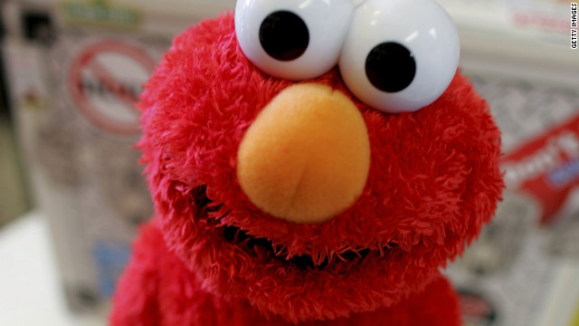 Elmo says to eat more apples