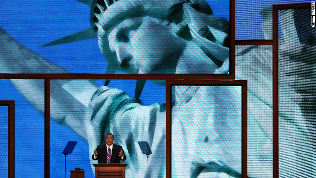 Concluding the first night of speech, Chris Christie declared Republicans were willing to face the tough issues and find solutions that work.