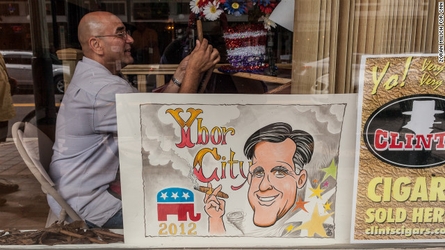 Alfred Moreno rolls a cigar in Ybor City, a historic neighborhood in Tampa known for its nightlife.