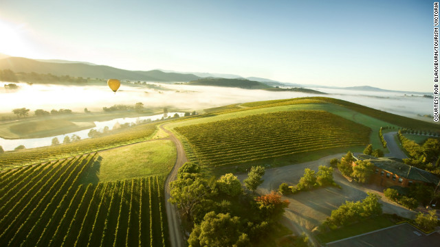 Melbourne is surrounded by beautiful countryside, including the vineyards of the Yarra Valley.