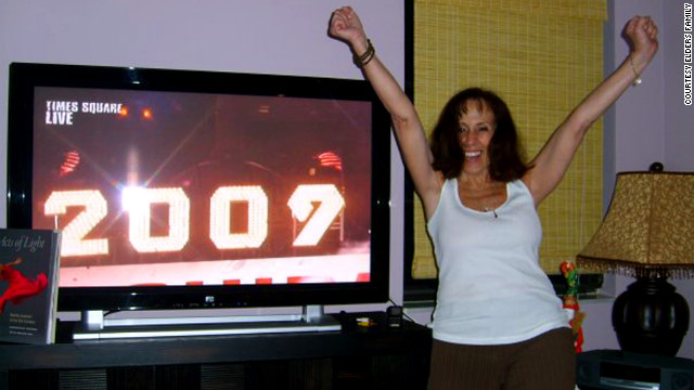 Elder celebrates the new year in 2009. Just before she died in July, she wrote a friend, &quot;I honestly don't know how much more I can endure.&quot;