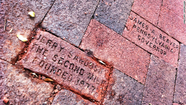 Jerry Sandusky brick removed from State College walkway