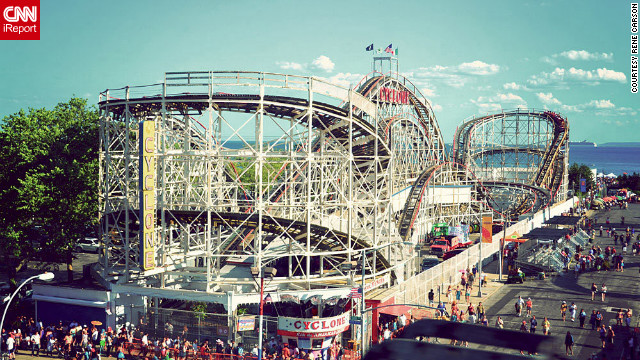 "Rene Carson <a href='http://ireport.cnn.com/docs/DOC-831726'>took this photo at Coney Island</a> in Brooklyn, New York. ""Roller coasters are generally my favorite amusement park rides, and the Cyclone is lots of fun to ride."""