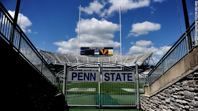 Cnn topstories forging new meaning at penn state for Beaver stadium wall mural