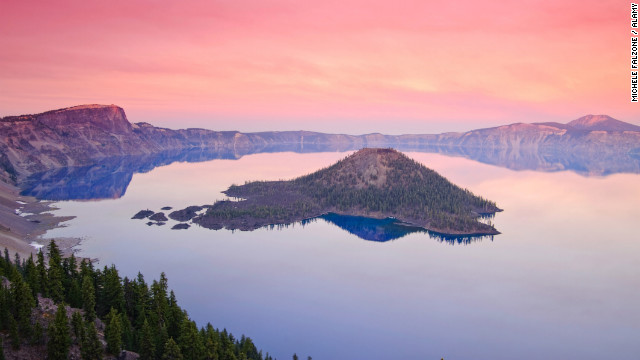 Oregon's Crater Lake is the deepest lake in the United States.