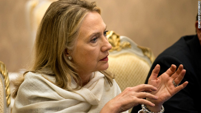 US Secretary of State Hillary Clinton pictured in Phnom Penh, Cambodia on July 12, 2012.