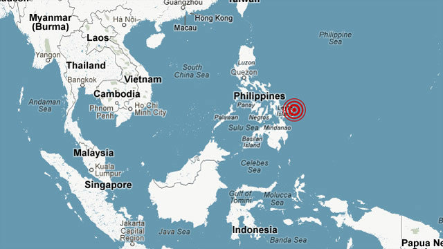 A preliminary 7.9-magnitude earthquake off the Philippines prompted a regional tsunami warning.