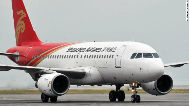A Shenzhen Airlines Airbus A319 plane taxis at an airport in October 2011.