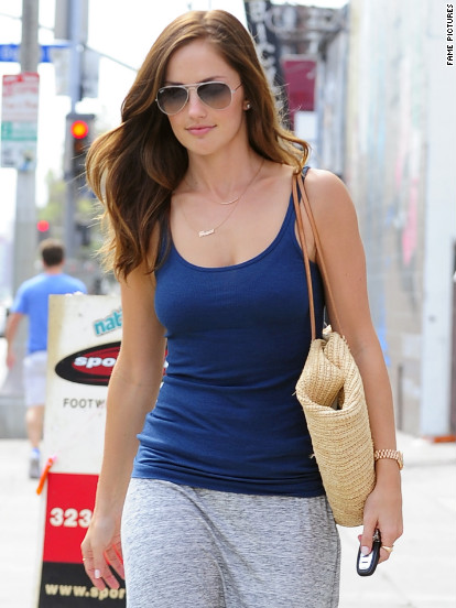 Minka Kelly goes shopping in West Hollywood.