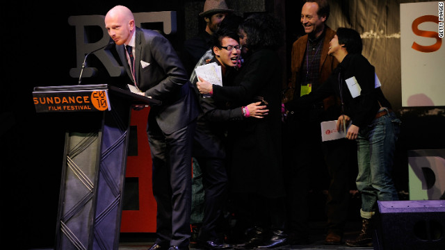 Mads Brugger accepts the World Cinema Jury Prize for Documentary for 
