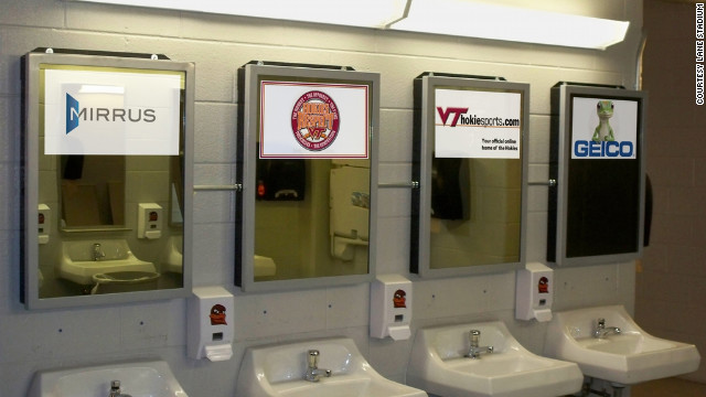 The facilities at Virginia Tech's stadium received a major update in 2010, complete with digital mirrors displaying school and sponsor messages to a captive audience.