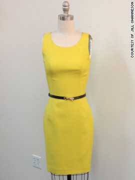 Madekwe's character has yet to wear this yellow L'Wren Scott dress on set. But Madekwe told CNN she's looking forward to it.