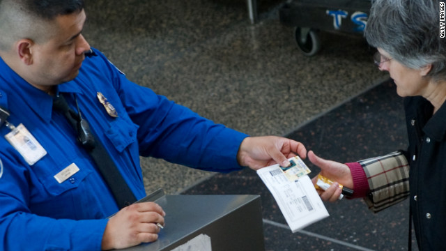 Currently, TSA screeners examine each traveler's boarding pass and ID by hand. 