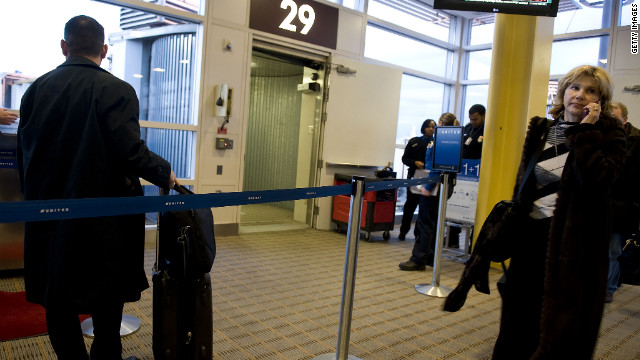 Current airline boarding gates already include kiosks where passengers swipe their boarding passes before getting on the plane. 