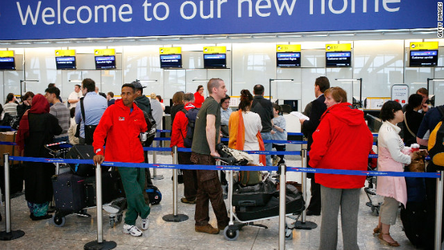 Current airport baggage and ticketing counters often rely on human-to-human information exchange. Staffers then use a computer keyboard to enter or retrieve each passenger's vital travel data, such as reservation or baggage information.