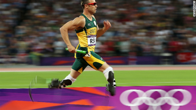 Due to the Paralympics' classification rules, South Africa's double amputee &quot;Blade Runner&quot; Oscar Pistorius can line up against runners with only one prosthetic leg. 