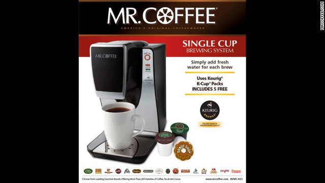 Certain Chinese-made Mr. Coffee Single Cup Brewing System models reportedly can spew the brewing chamber's contents.