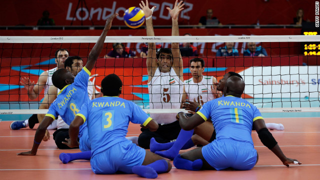 Rwanda\'s sitting volleyball team