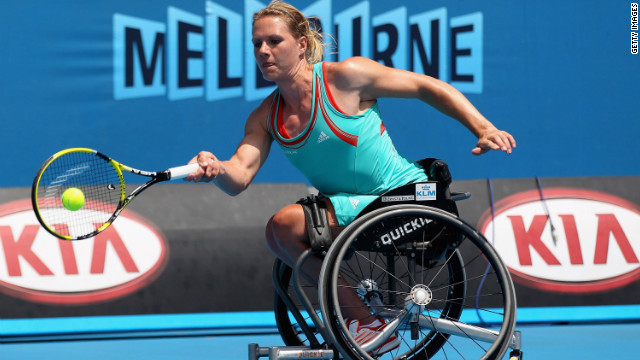 Not only is Esther Vergeer the female world number one in wheelchair tennis, but she also holds the remarkable record of 465 unbeaten singles matches over almost a decade.