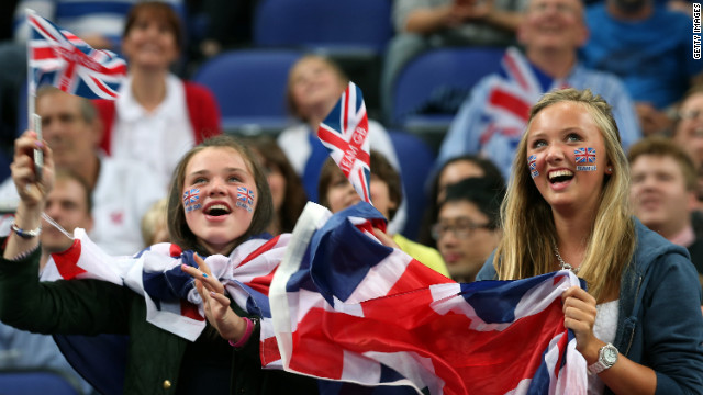 Fans watch the preliminary wheelchair men's basketball match between Great Britain and Germany, which Germany won 77-72.
